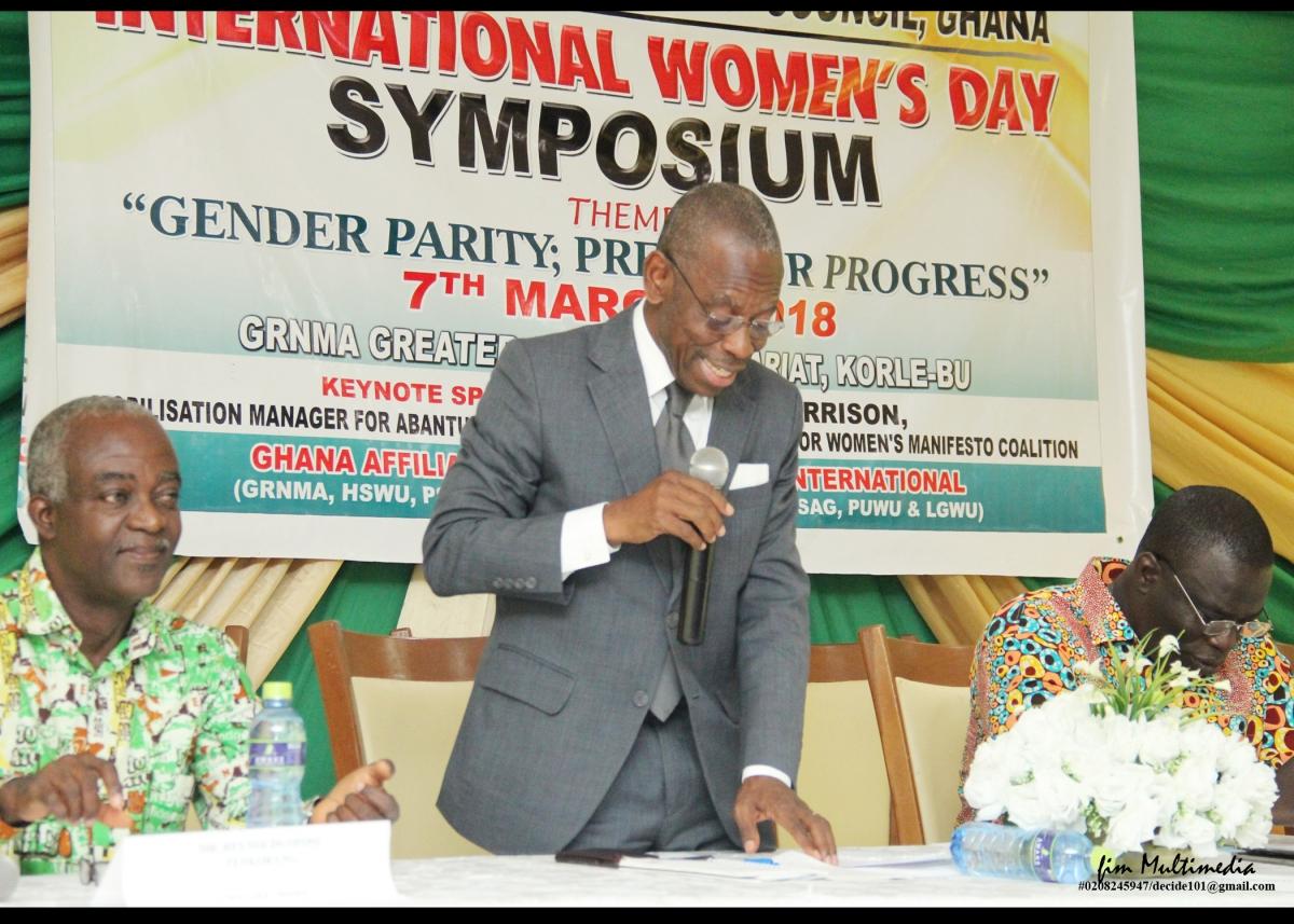 NCC Chairman Dr Kwaku Asante-Krobea adressing the Forum