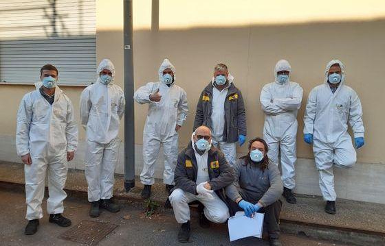 Les électriciens italiens de l'ACEA, Rome, Italie. Photo : Rassegna Sindacale