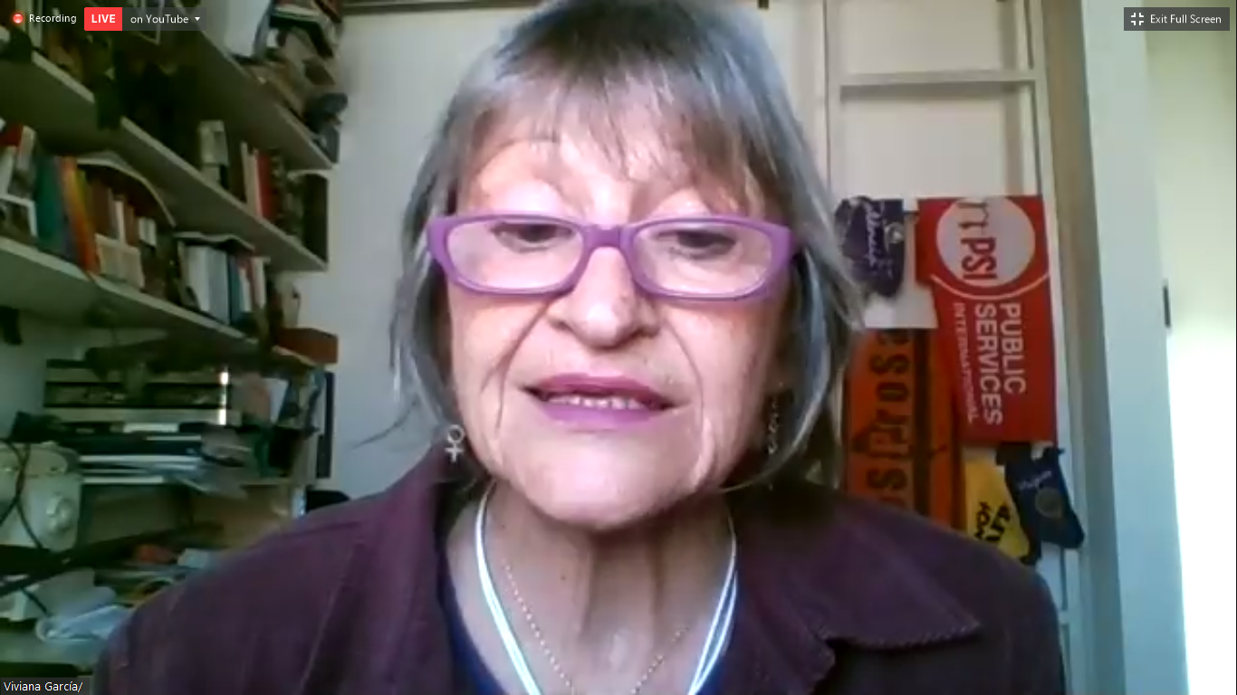 Viviana García, directora en la Federación Nacional de Profesionales de la Salud (FESPROSA) de Argentina
