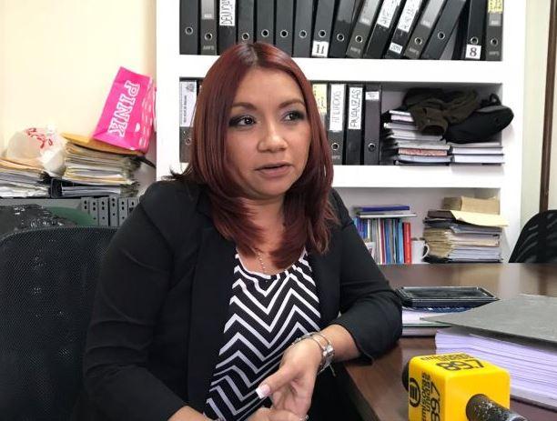 La secretaria general del STOL Xiomara Conde Pacheco